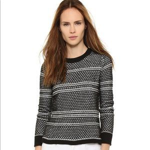 Madewell Jacquard Textured Emma Pullover XS